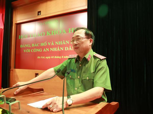 Thượng tướng, PGS.TS Nguyễn Văn Thành, Ủy viên Trung ương Đảng, Thứ trưởng Bộ Công an chủ trì Hội thảo