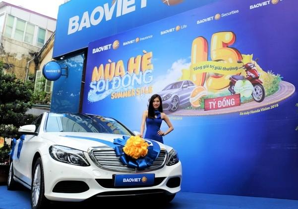 Khách hàng có cơ hội trúng xe ô tô Mercedes-Benz C200 khi sử dụng các dịch vụ của Bảo Việt