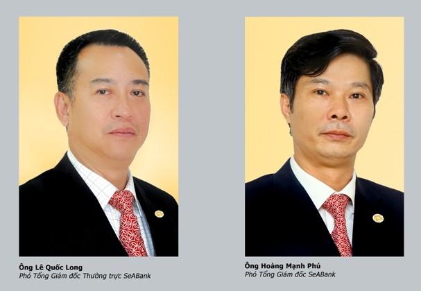 Hai thành viên Ban Tổng Giám đốc mới của SeABank