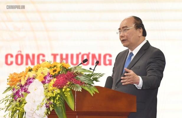 Thủ tướng Nguyễn Xuân Phúc tại Hội nghị (Ảnh: VGP)