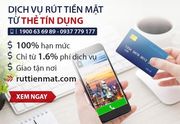 Dịch vụ rút tiền mặt từ thẻ tín dụng được quảng cáo công khai