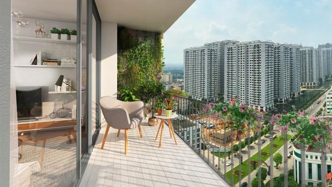 Nhờ thiết kế không gian tối ưu, căn hộ tòa Sky View sở hữu tầm nhìn đẹp nhất dự án