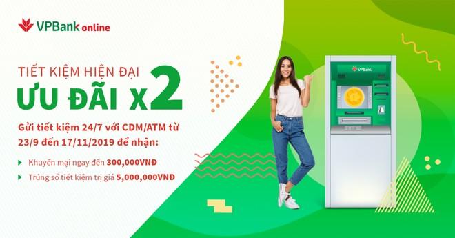 Nhiều ưu đãi cho khách hàng gửi tiết kiệm trực tuyến tại máy CDM/ATM của VPBank