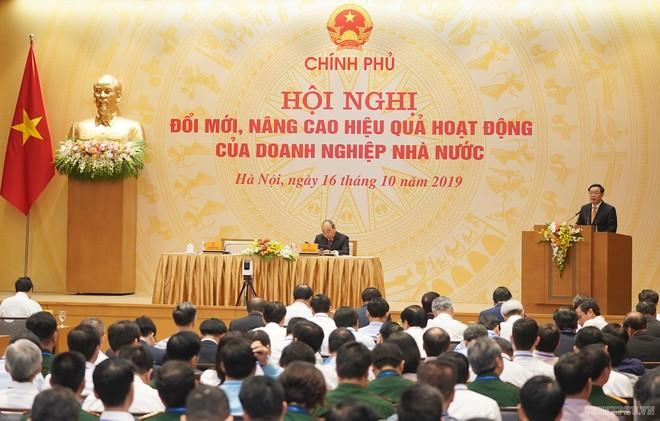 Phó Thủ tướng chỉ ra nhiều vướng mắc trong công tác cổ phần hóa, thoái vốn DNNN (Ảnh VGP)