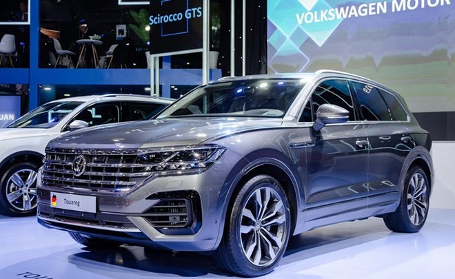 """Chiếc xe Volkswagen Touareg tại Triển lãm ô tô Việt Nam bị phát hiện có bản đồ chứa """"đường lưỡi bò"""""""