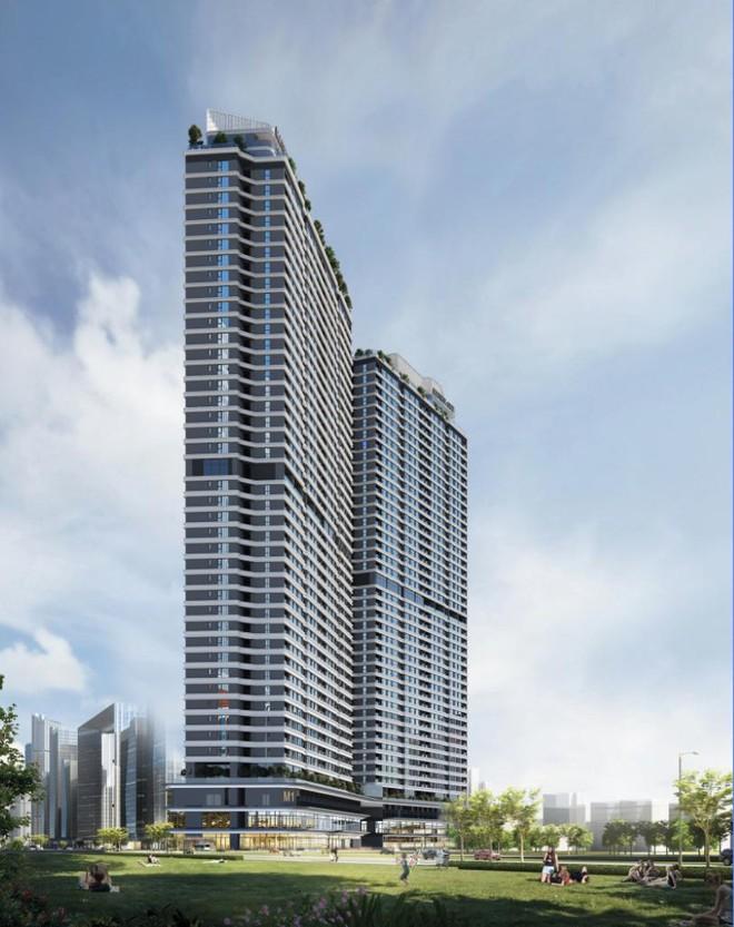 Tòa tháp đôi căn hộ 44 tầng thuộc khu hỗn hợp HH2 sẽ đưa ra thị trường hơn 700 căn hộ cao cấp