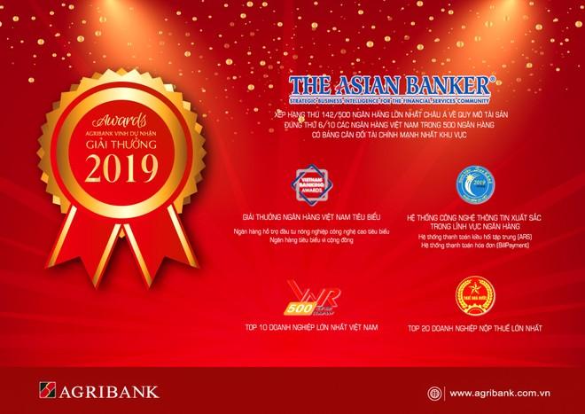Agribank đạt được nhiều giải thưởng quan trọng trong năm 2019