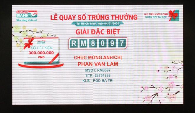 313 khách hàng gửi tiết kiệm Kienlongbank trúng thưởng 2,7 tỷ đồng