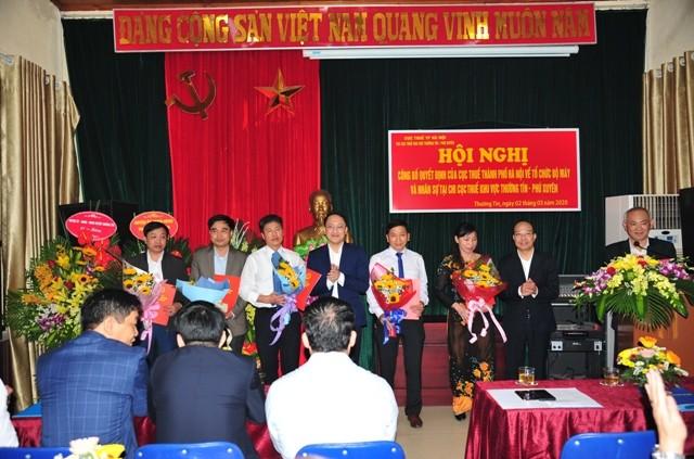 Công bố quyết định hợp nhất Chi cục Thuế khu vực Thường Tín - Phú Xuyên