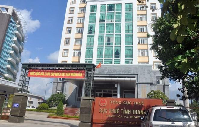 Trụ sở Cục Thuế tỉnh Thanh Hóa, nơi ông Nguyễn Ngọc Đính công tác