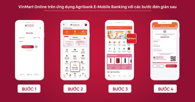 Hướng dẫn sử dụng đặt hàng VinMart Online trên Agribank E-Mobile Banking