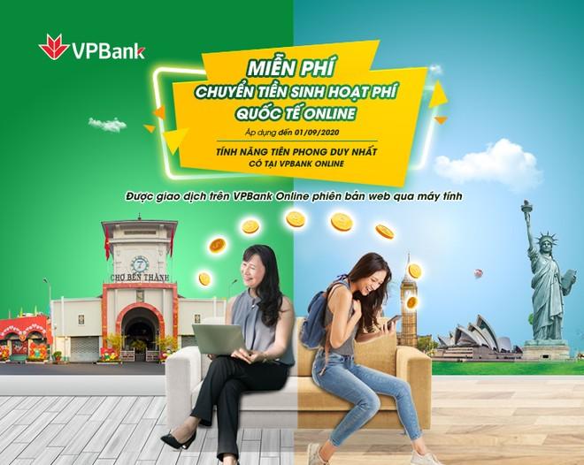 Nhiều lợi ích khi chuyển tiền sinh hoạt quốc tế qua VPBank Online