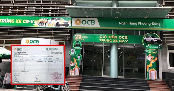 Hội sở Ngân hàng OCB - nơi bà Hằng cho biết đã thực hiện các giao dịch tiền gửi tiết kiệm