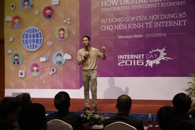 Tổng Giám đốc VNG Lê Hồng Minh phát biểu tại hội thảo Internet Day 2016