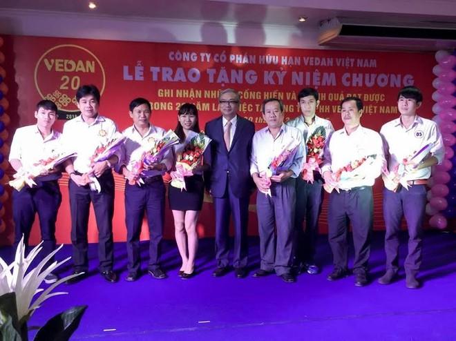 Vinh danh các cá nhân đã gắn bó và cống hiến cho Vedan Việt Nam suốt 20 năm vừa qua
