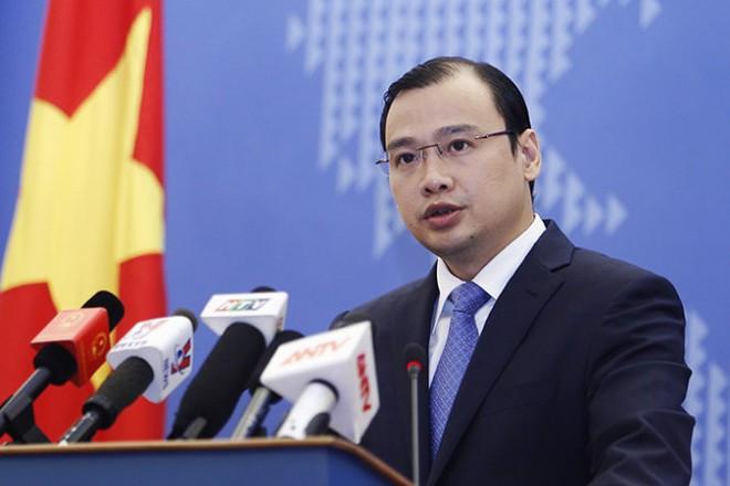 Ông Lê Hải Bình, Người phát ngôn Bộ Ngoại giao Việt Nam chủ trì họp báo thường kỳ lần thứ hai năm 2017