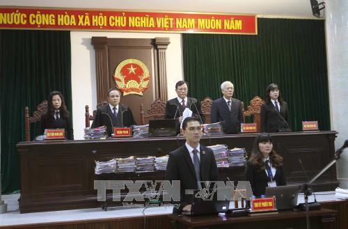 Hội đồng xét xử sơ thẩm vụ án bị cáo Trịnh Xuân Thanh, Đinh La Thăng và đồng phạm