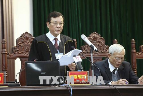 Chủ tọa phiên tòa Nguyễn Ngọc Huân công bố bản án