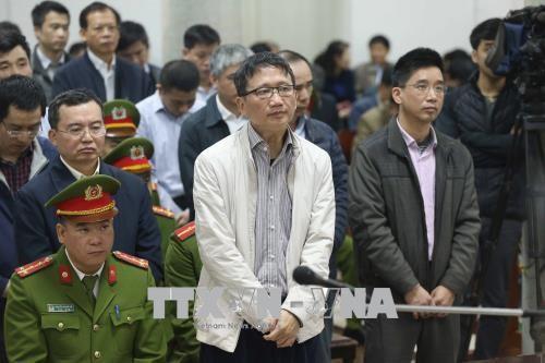 Bị cáo Trịnh Xuân Thanh và đồng phạm nghe tòa tuyên án