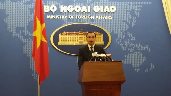 Người phát ngôn Bộ Ngoại giao Lê Hải Bình tại cuộc họp báo chiều 9-4