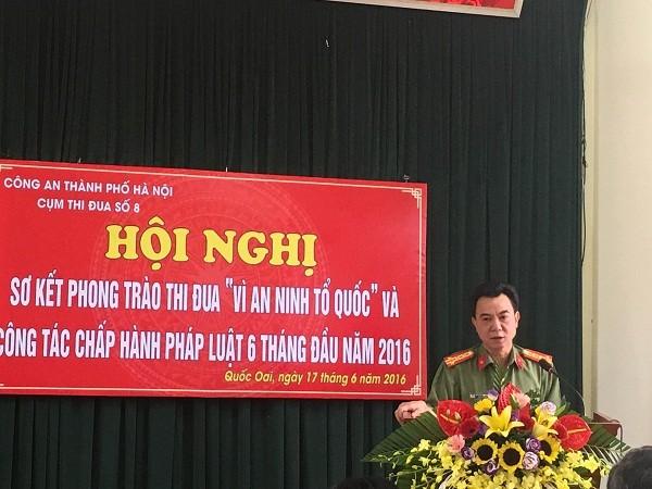 Đại tá Nguyễn Anh Tuấn, Phó Giám đốc CATP Hà Nội đánh giá cao kết quả công tác của