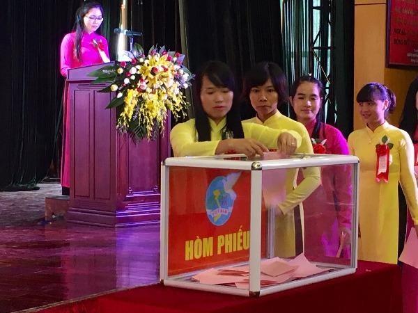 Đại hội đã bầu ra đoàn đại biểu đi dự Đại hội đại biểu phụ nữ Bộ Công an