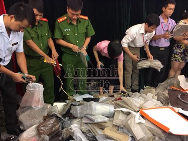 Lực lượng chức năng đã phát hiện, tiêu hủy nhiều sản phẩm hàng giả, hàng nhái