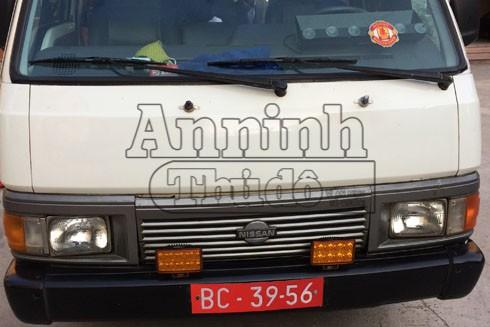 Chiếc xe mang BKS giả xe quân đội
