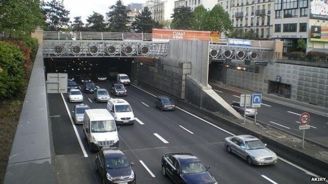 Đường hầm Landy ở Paris, nơi xảy ra vụ cướp