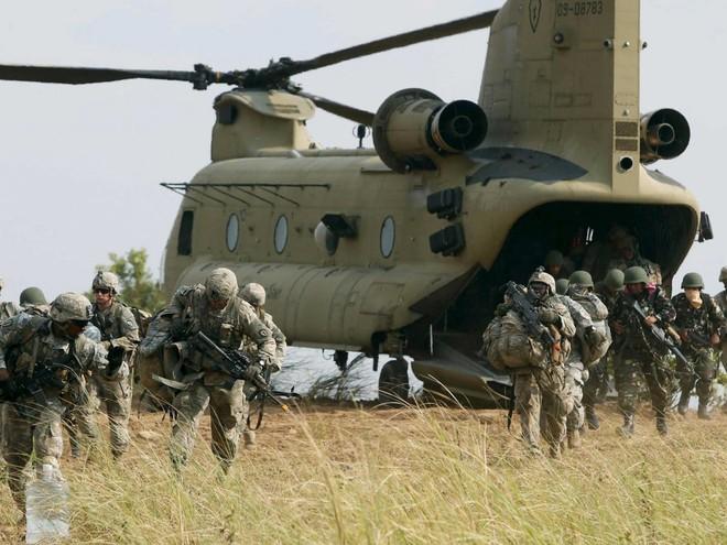 Các binh sĩ Mỹ tham gia cuộc tập trận chung với Philippines hôm 20-4