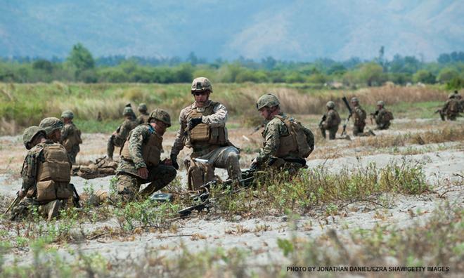 Binh sĩ Mỹ và Philippines trong một cuộc tập trận Balikatan