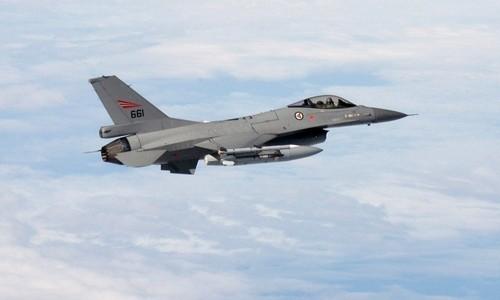 Một chiếc chiến đấu cơ F-16 của Không quân Na Uy
