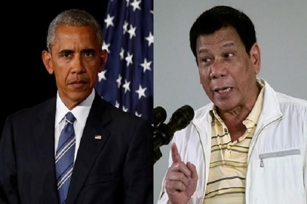 Tổng thống Mỹ Barack Obama (trái) và người đồng cấp Philippines Rodrigo Duterte