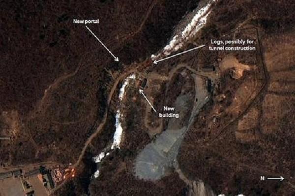 Hình ảnh một bãi thử hạt nhân của Triều Tiên