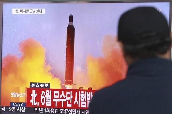 Một tên lửa của Triều Tiên được phóng đi