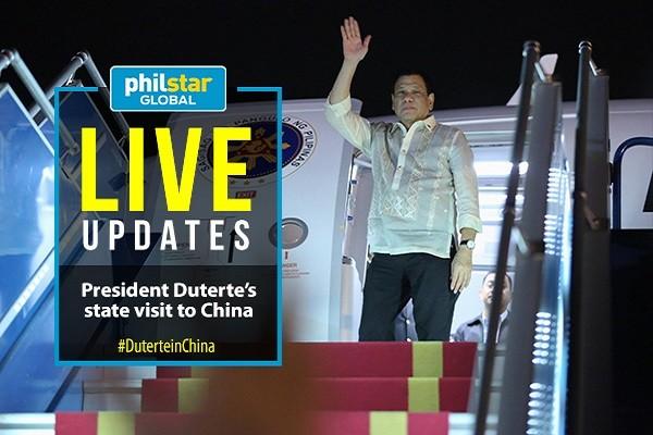 Tổng thống Philippine Duterte thăm Trung Quốc từ ngày 18 đến 21-10