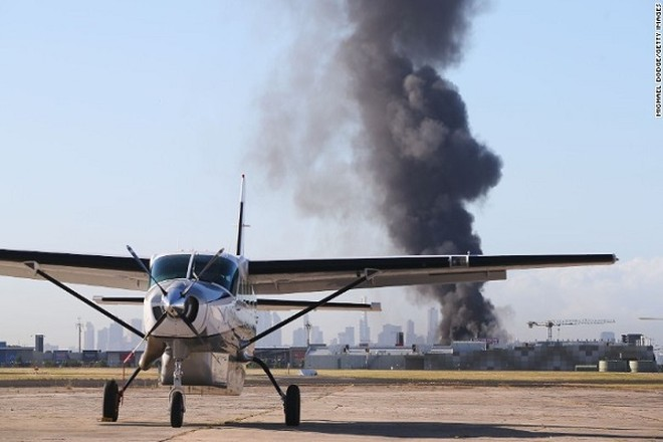 Hiện trường vụ máy bay rơi
