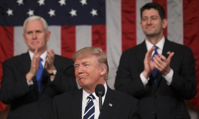 Ông Trump lần đầu phát biểu trước Quốc hội Mỹ