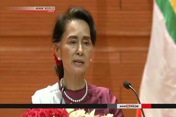 Cố vấn Nhà nước Myanmar, bà Aung San Suu Kyi