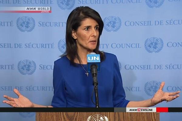 Đại sứ Mỹ tại Liên hợp quốc, bà Nikki Haley