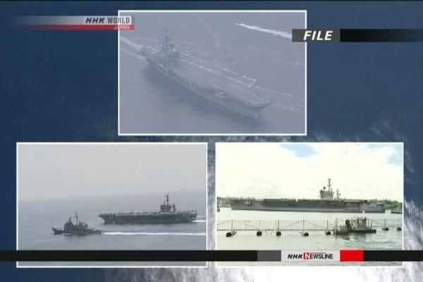 Ba nhóm tàu chiến tàu sân bay của Hải quân Mỹ