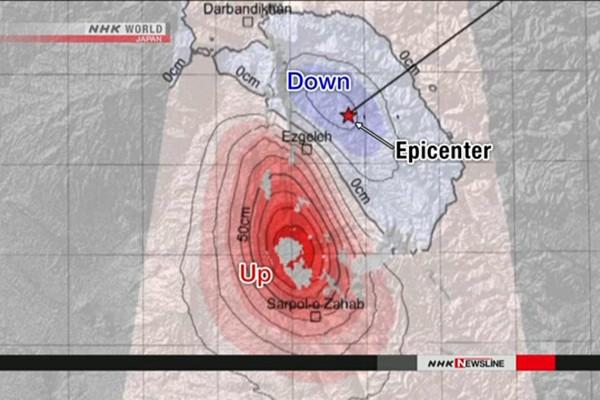 Khu vực xảy ra động đất ở biên giới Iran - Iraq