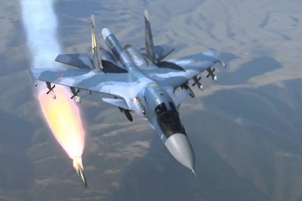 Máy bay Nga trong một lần khai hỏa diệt mục tiêu