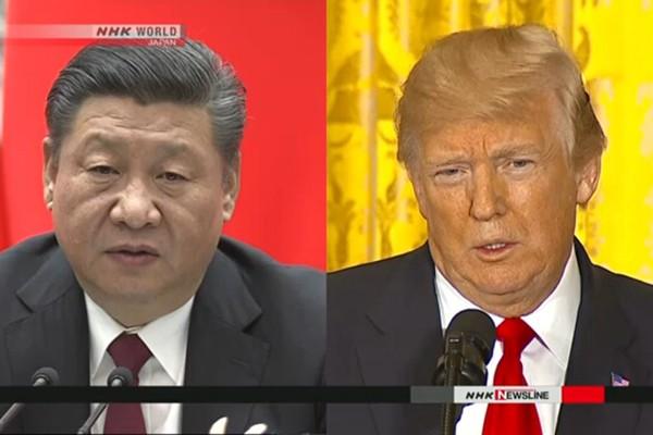 Chủ tịch Trung Quốc Tập Cận Bình và Tổng thống Mỹ Donald Trump