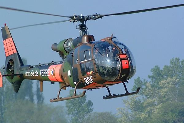 Trực thăng quân sự Gazelle. (Ảnh minh họa)
