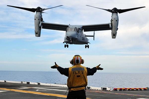 Một chiếc máy bay vận tải Osprey của quân đội Mỹ