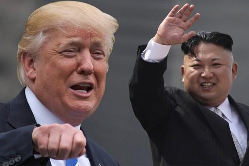 Tổng thống Mỹ Donald Trump và nhà lãnh đạo Triều Tiên Kim Jong-un