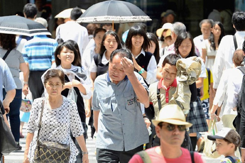 Nhật Bản trải qua đợt nắng nóng kỷ lục khiến nhiều người nhập viện vì sốc nhiệt