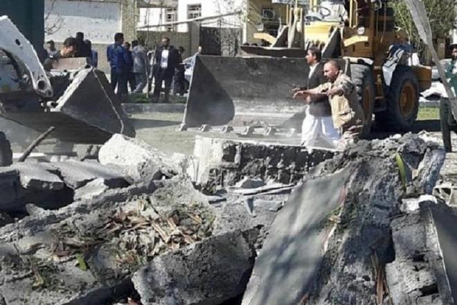Hiện trường vụ đánh bom