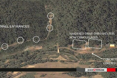 Các chuyên gia Mỹ nói rằng, ở đây có trụ sở căn cứ và lối vào 1 đường hầm tên lửa